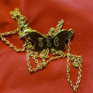Jewelry - VINTAGE GOLD TENDER LOVING CARE BUTTERFLY NECKLACE